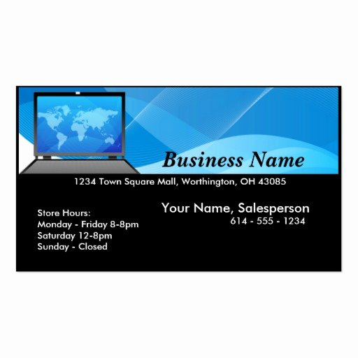 Computer Tech Business Cards Luxury Puter Store Business Card Templates