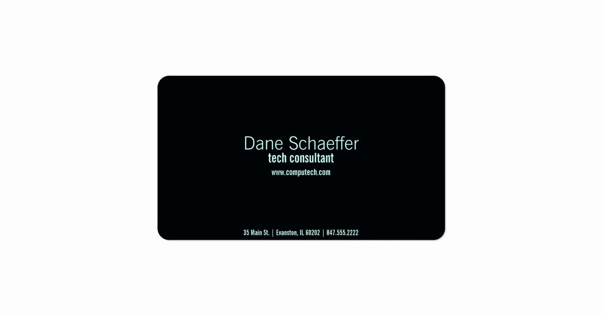 Computer Tech Business Cards Luxury Puter Tech Business Card