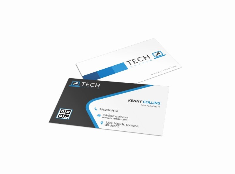 Computer Tech Business Cards Luxury Technology Business Card Templates
