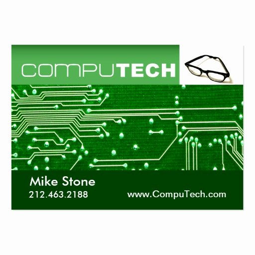 Computer Tech Business Cards New Puter Technician Geek Tech Circuit Board Chubby