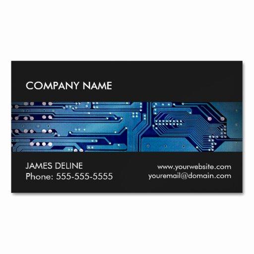 Computer Technician Business Card Elegant Cool Grey Blue Circuit Puter Repair Business Card Magnet