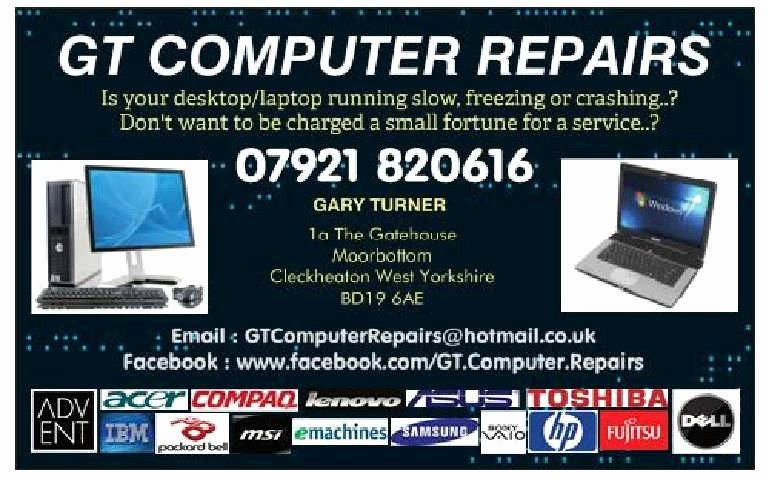 Computer Technician Business Card Fresh Gt Puter Repairs Puter Repair Pany In Moorside Cleckheaton Uk