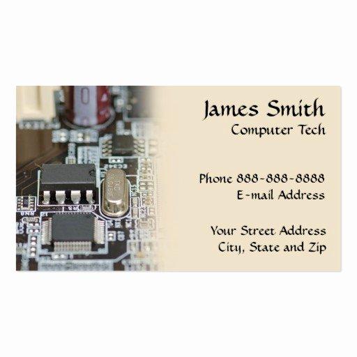 Computer Technician Business Card Fresh Puter Technician Programmer Business Card