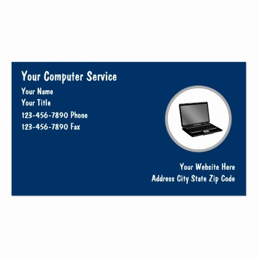 Computer Technician Business Card Unique Puter Repair Business Cards