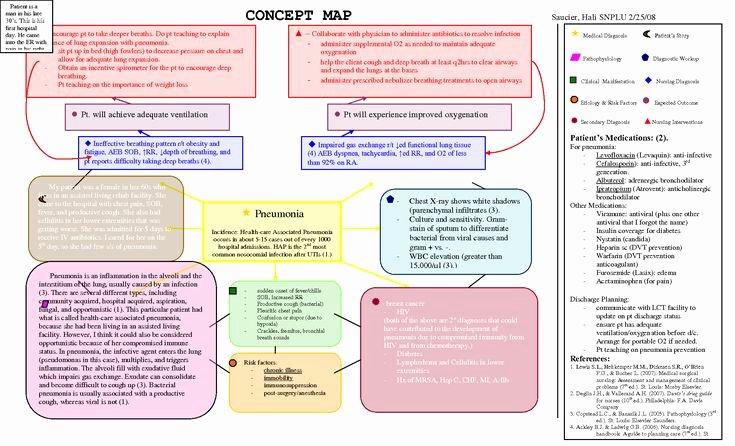 Concept Map Template Nursing Lovely Nursing Diagnosis Concept Maps