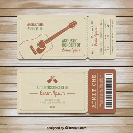 Concert Ticket Template Psd Beautiful 33 Free Ticket Templates & Psd Mockups for Your Next Branding Project