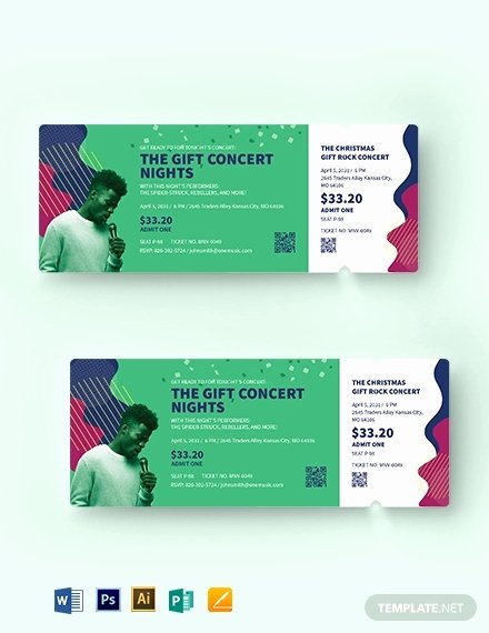 Concert Ticket Template Psd Best Of 20 Best Concert Ticket Templates Ai Indesign Publisher Psd Word