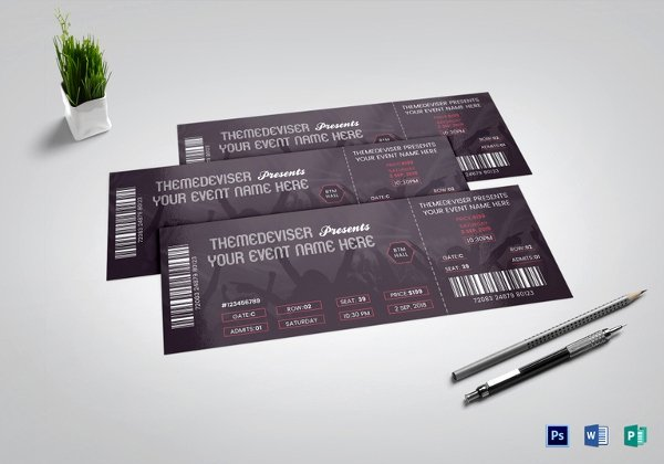 Concert Ticket Template Psd Fresh 42 Printable event Ticket Templates & Mockups Word Psd Ai Google Docs Apple Pages