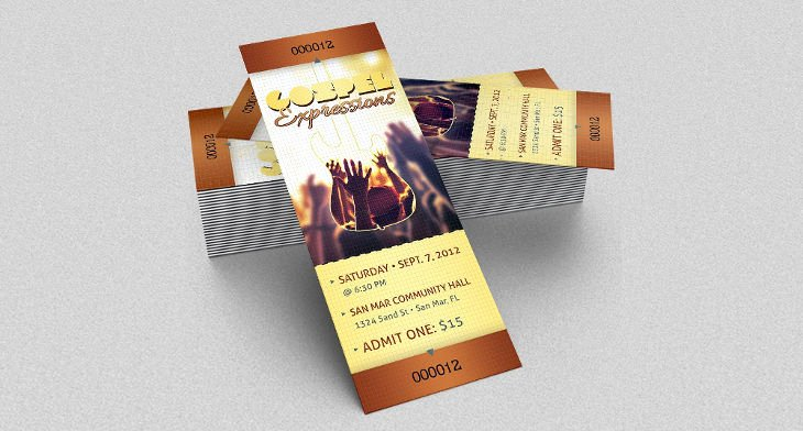 Concert Ticket Template Psd Luxury 17 event Ticket Templates