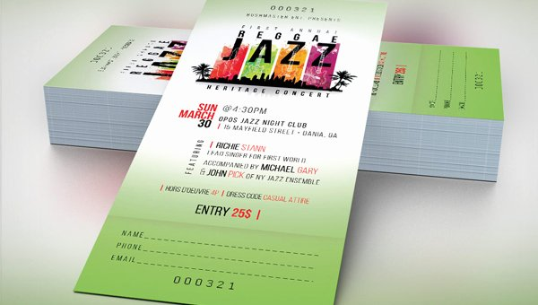 Concert Ticket Template Psd Luxury Concert Ticket Templates Psd Ai Word Files Free & Premium Download