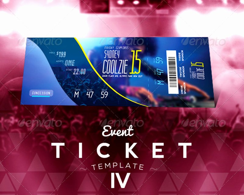 Concert Ticket Template Psd New 18 event Ticket Templates Psd Mockup Depot