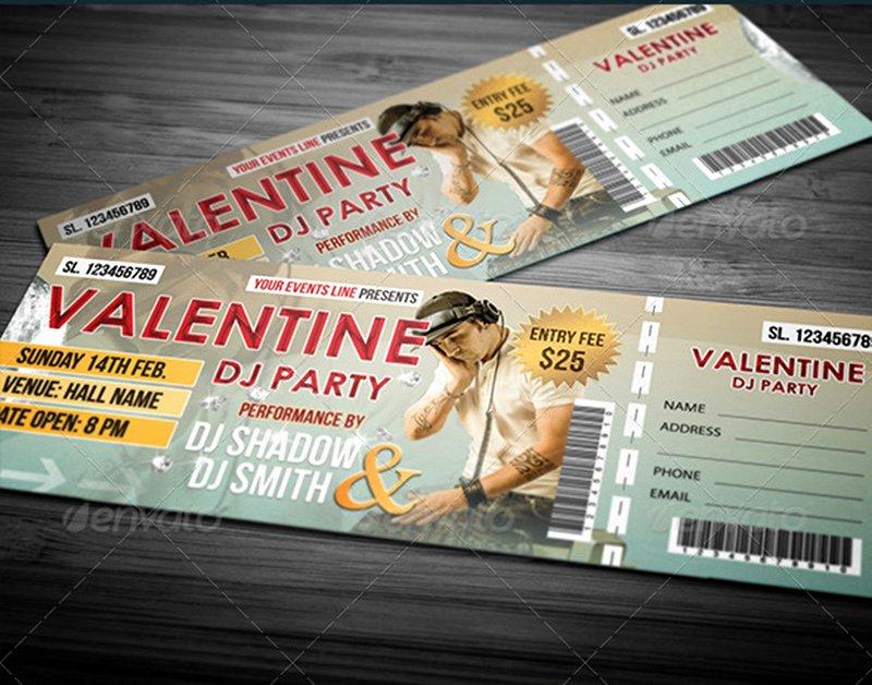 Concert Ticket Template Psd New 18 event Ticket Templates Psd Psdtemplatesblog