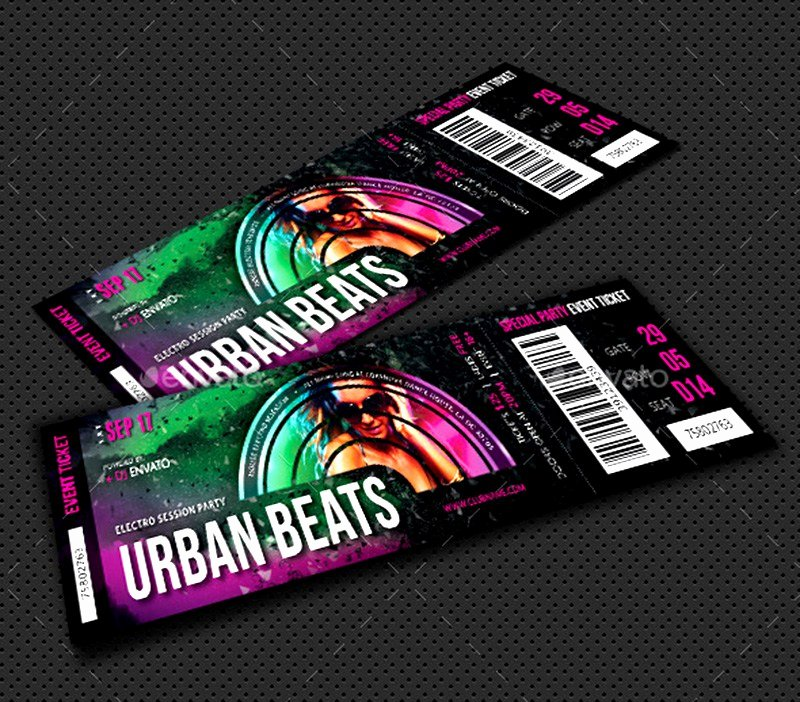 Concert Ticket Template Psd Unique 20 Best event Concert Ticket Psd Templates