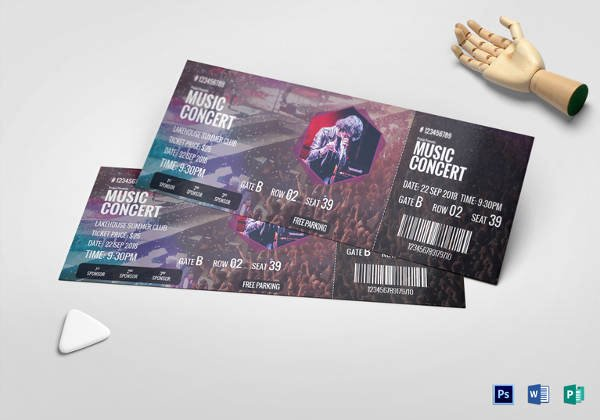 Concert Ticket Template Psd Unique Ticket Templates – 99 Free Word Excel Pdf Psd Eps formats Download