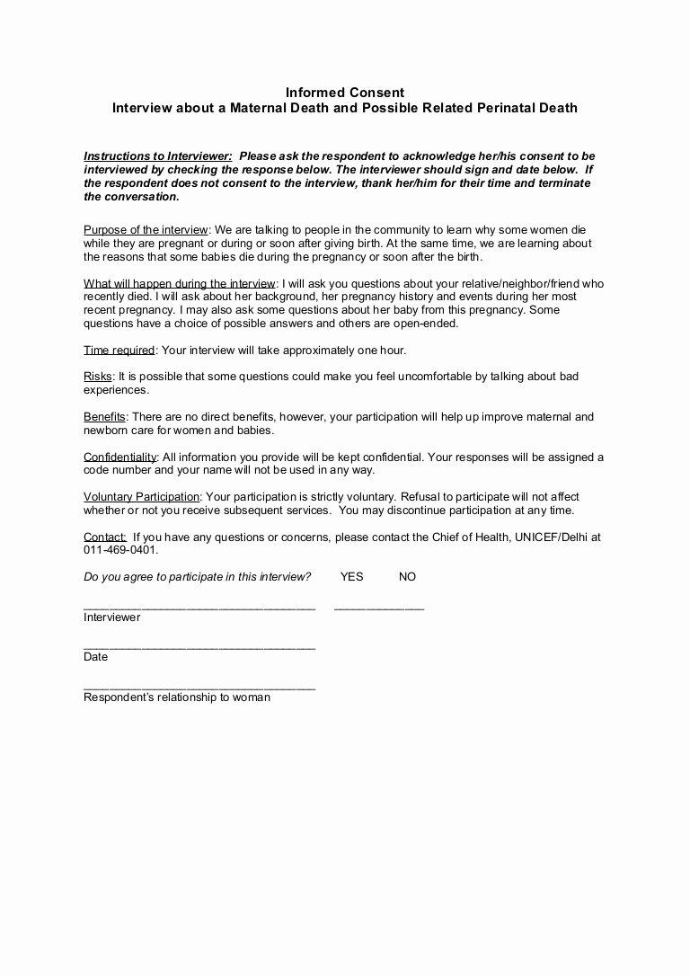 Consent form Sample for Parents Elegant Consent form