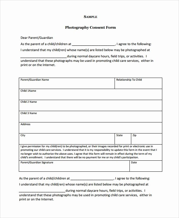 Consent form Sample for Parents Elegant Sample Graphy Consent form 9 Free Documents Download In Word Pdf