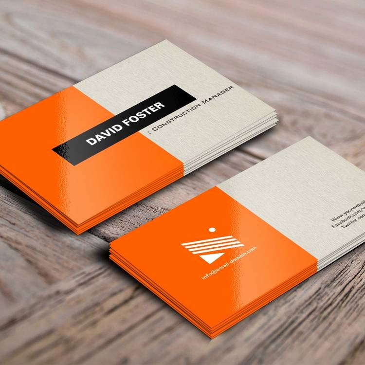 Construction Business Card Templates Awesome Construction Manager Simple Elegant Stylish