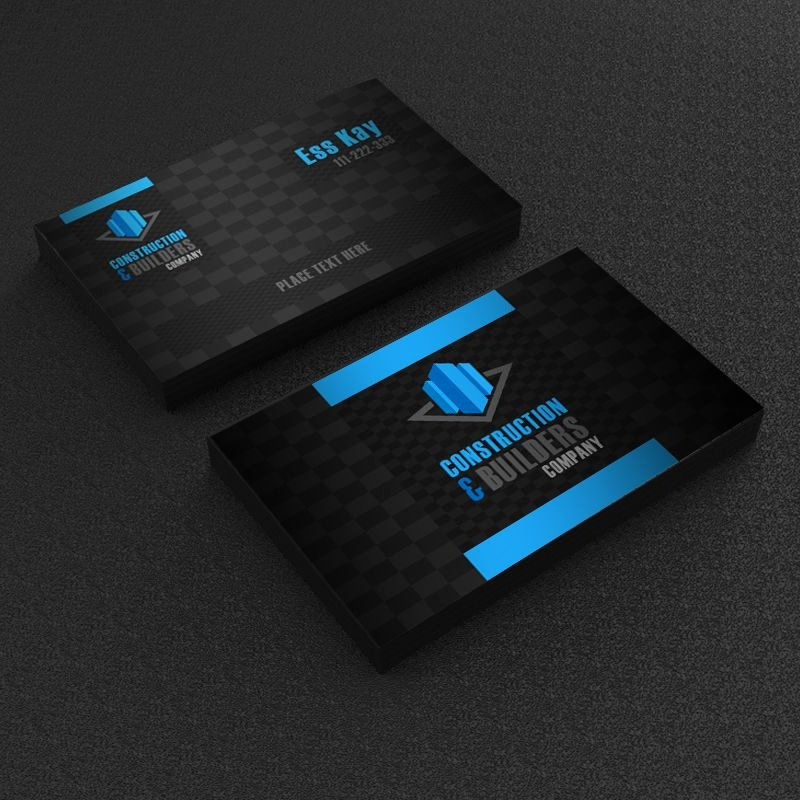 Construction Business Card Templates Awesome Construction Pany Business Card Template Design