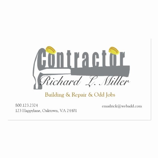 Construction Business Card Templates Awesome Home Builder Construction Double Sided Standard Business Cards Pack 100