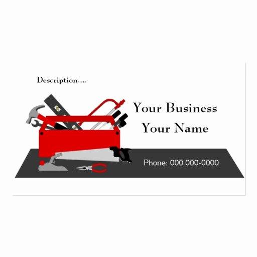 Construction Business Card Templates Beautiful Construction tool Box Business Card Template 2