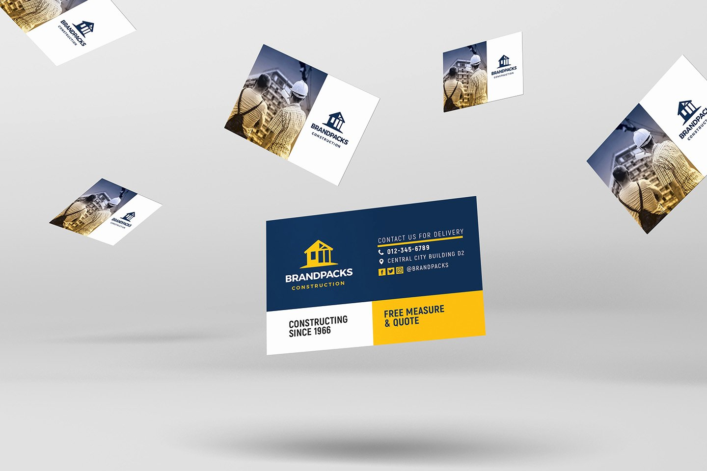 Construction Business Card Templates Best Of Construction Pany Business Card Template In Psd Ai & Vector Brandpacks