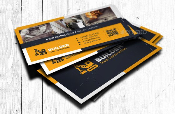 Construction Business Card Templates Inspirational 25 Construction Business Card Templates Free & Premium Download