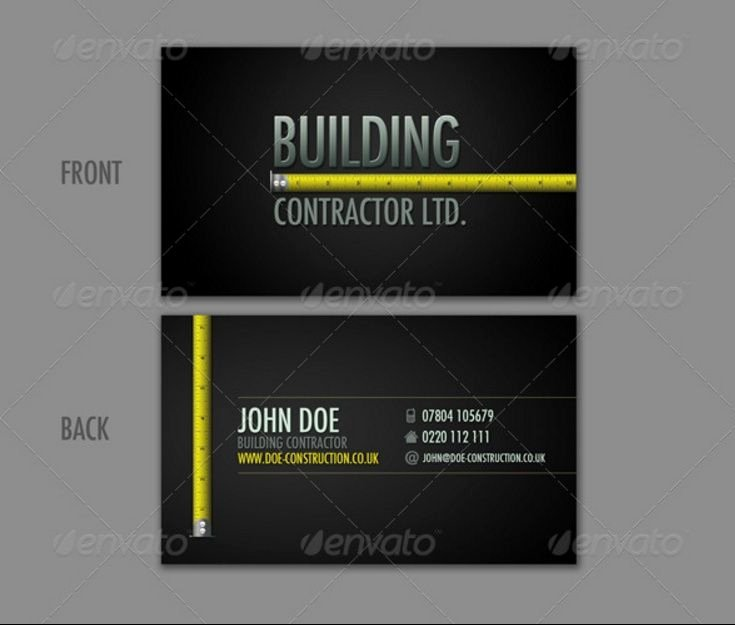 Construction Business Card Templates Inspirational 30 Best 25 Construction Business Card Template Psd and Indesign format Images On Pinterest