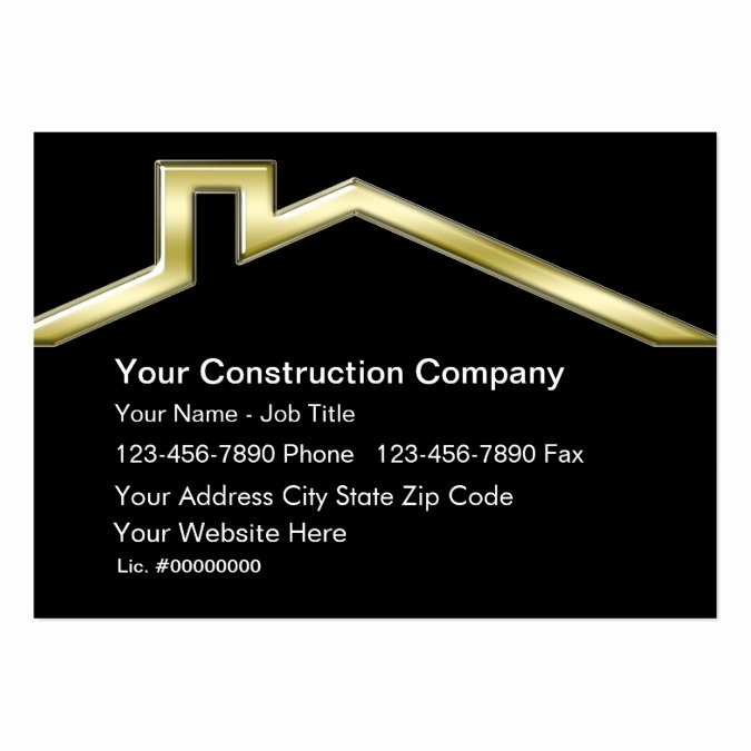 Construction Business Card Templates Lovely Construction Business Cards