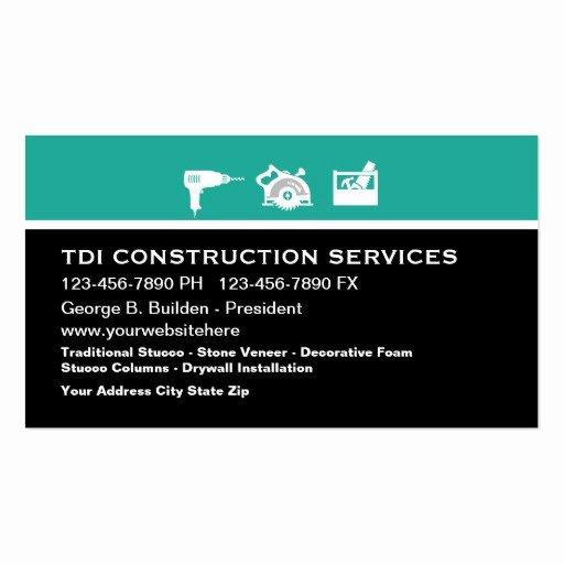 Construction Business Card Templates Unique Construction Business Card Template