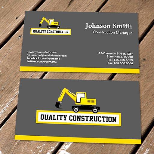 Construction Business Cards Samples Elegant Construction Site Construction Site Yellow Card
