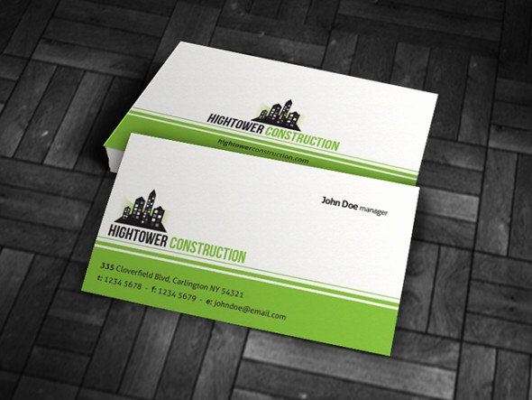 Construction Business Cards Samples Elegant Simple Corporate Business Card Template Free Download Cp