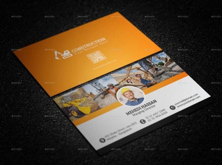 Construction Business Cards Samples Inspirational 30 Best 25 Construction Business Card Template Psd and Indesign format Images On Pinterest