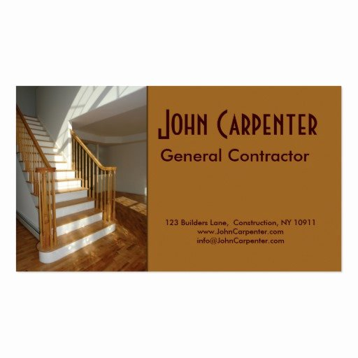 Construction Business Cards Samples Lovely Staircase In New Construction Home Business Card Template