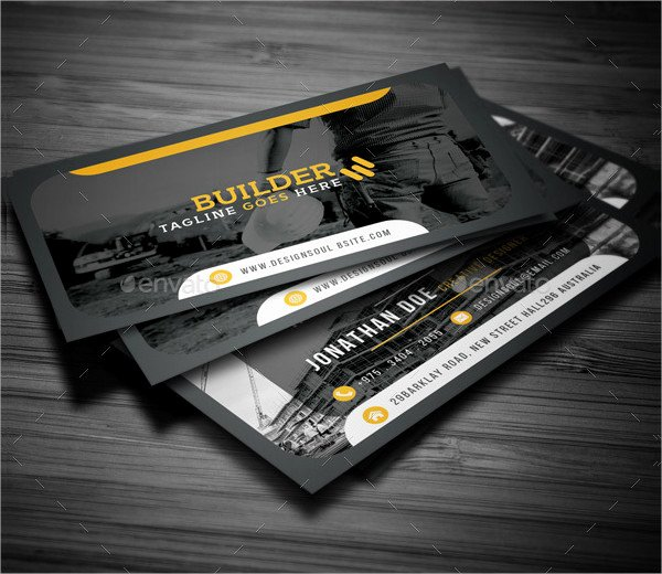 Construction Business Cards Samples Luxury 25 Construction Business Card Printable Psd Eps Downloads