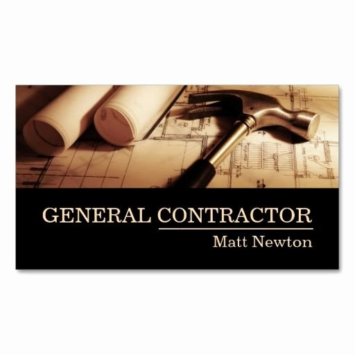 Construction Business Cards Samples Luxury General Contractor Builder Manager Construction Business Cards Make Your Own Business Card with