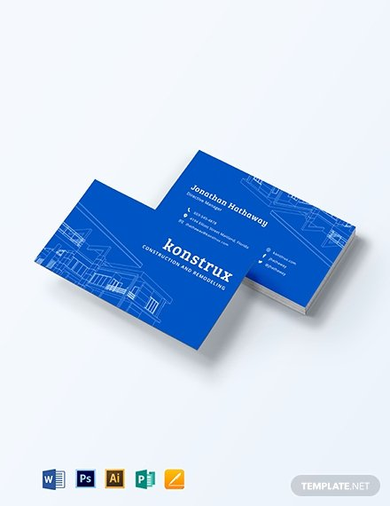 Construction Business Cards Samples Luxury Modern Construction Business Card Template Word Psd Apple Pages Publisher