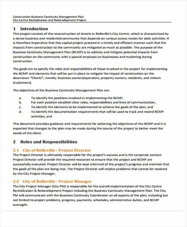 Construction Business Plan Template Word Inspirational 12 Construction Business Proposal Templates Free Word Pdf format Download