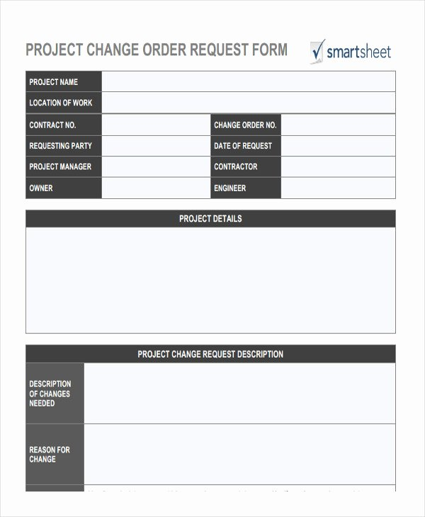 Construction Change order Template Word New Change order forms 9 Free Word Pdf format Download
