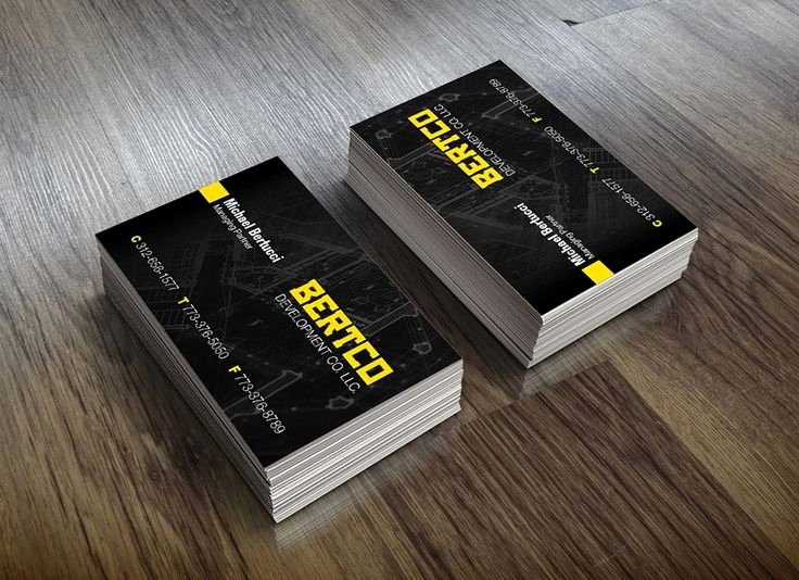Construction Company Business Cards Awesome Creative Construction Business Cards Business Card