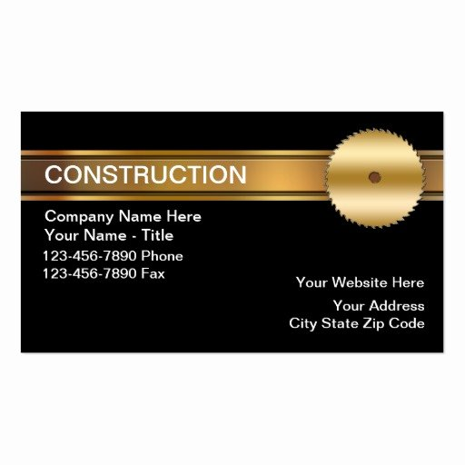 Construction Company Business Cards Fresh Construction Business Cards