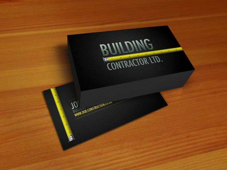 Construction Company Business Cards Luxury Construction Business Card