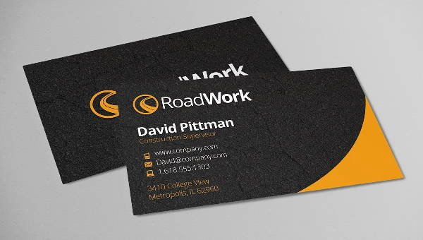 Construction Company Business Cards New 11 Construction Business Card Templates Ai Word Shop