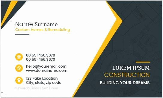 Construction Company Business Cards New Construction Pany Workers Business Cards