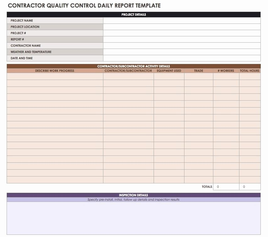 Construction Daily Report Template Best Of Construction Daily Reports Templates or software Smartsheet