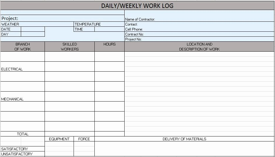 Construction Daily Report Template Inspirational Construction Daily Report Template Excel – Emmamcintyrephotography