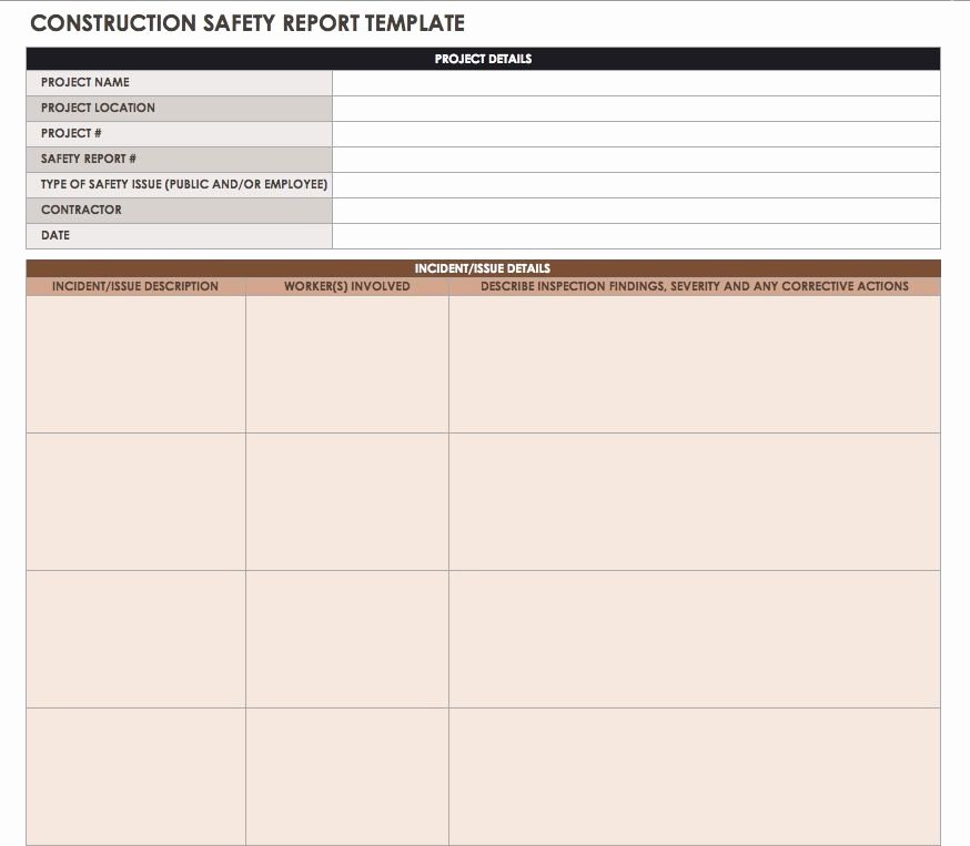 Construction Daily Report Template Lovely Construction Daily Reports Templates or software Smartsheet