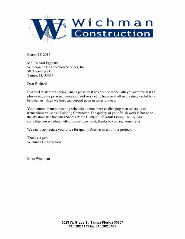 Construction Letter Of Intent Template Inspirational Construction Work Sample Letter Intent for Construction Work