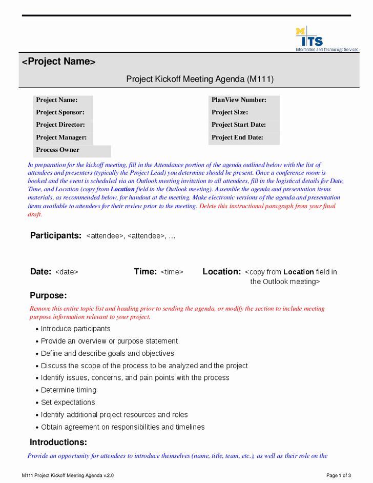 Construction Meeting Agenda Template Beautiful Best S Of Project Meeting Agenda Sample Project Kick F Meeting Agenda Template Project