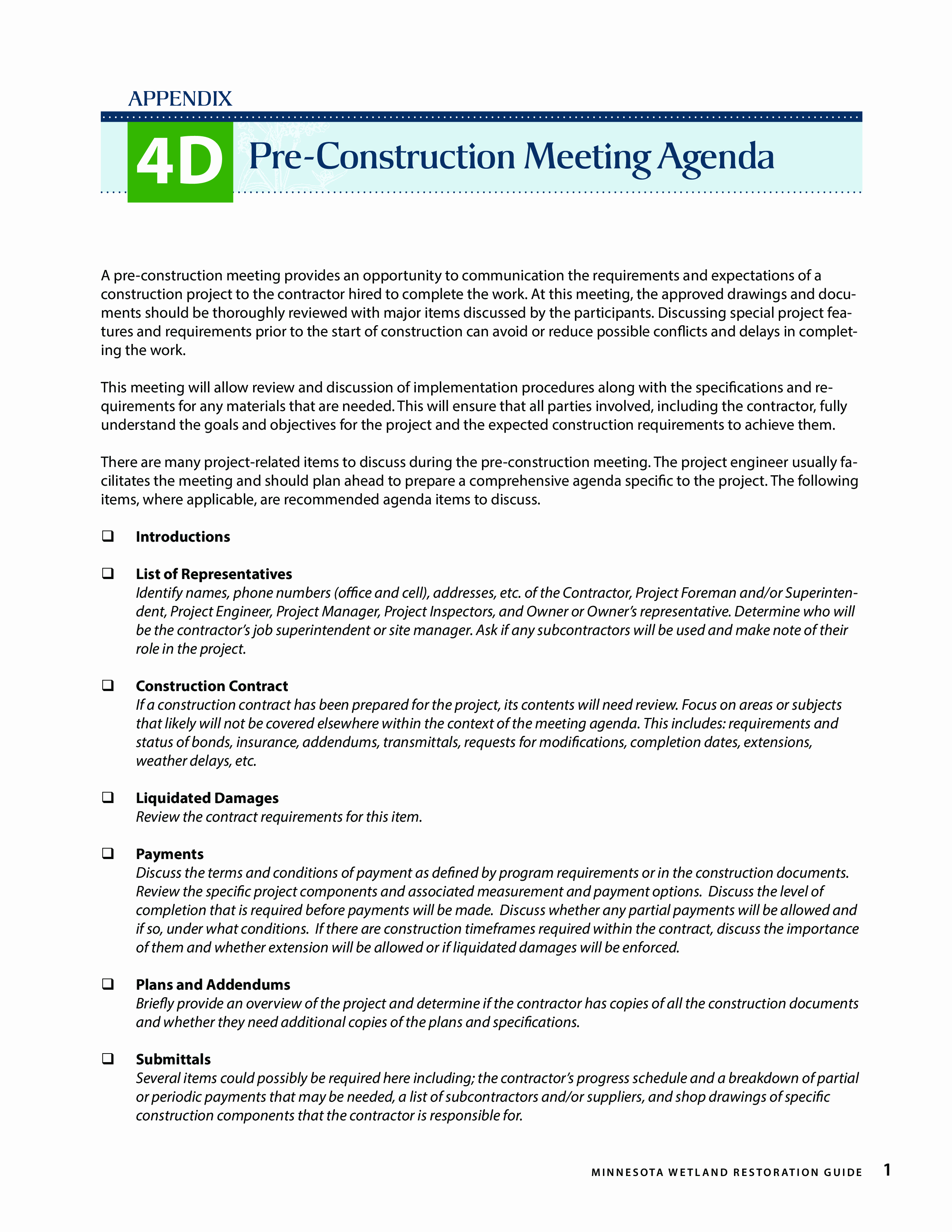 Construction Meeting Agenda Template Fresh Pre Construction Meeting Agenda