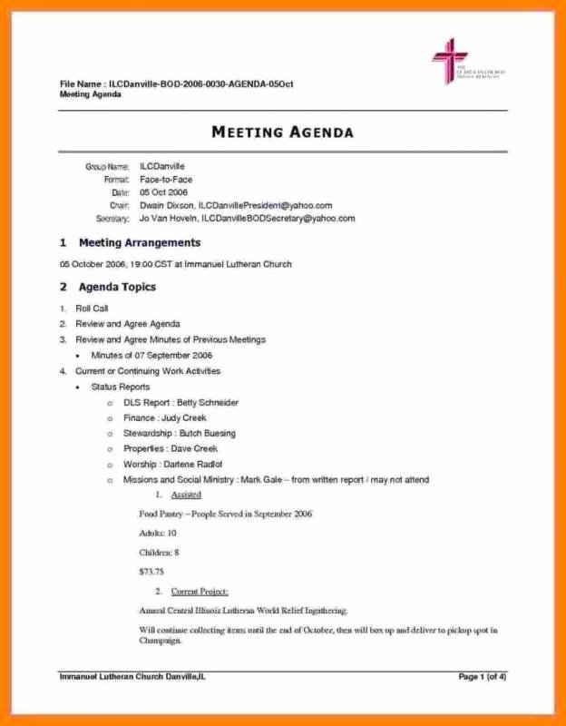 Construction Meeting Agenda Template Lovely Meeting Agenda Template Doc